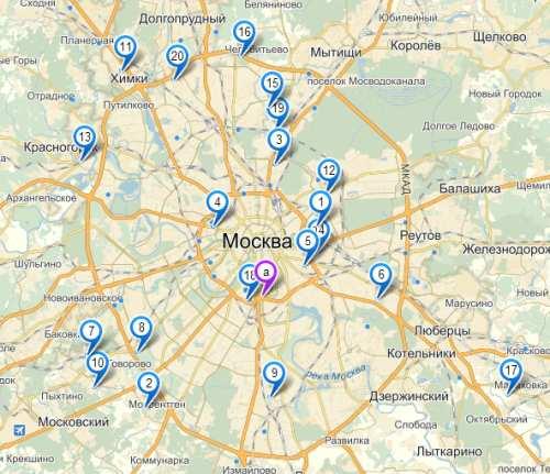 хованское кладбище карта