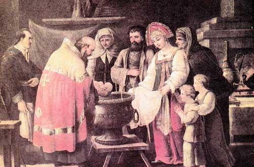 И.Ф. Топылев. Крестины. 1800 г.